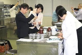 学校給食用食品検査技術講習会